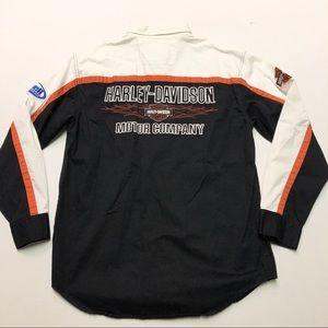 Harley Davidson Long Sleeve Button Up Shirt Medium